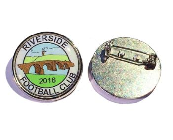 Premium Badge 25mm round silv clasp and printed dome
